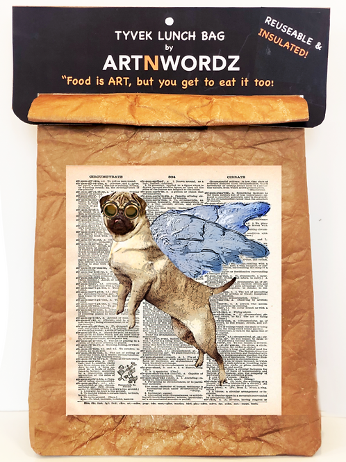Flying Pug Lunch Bag