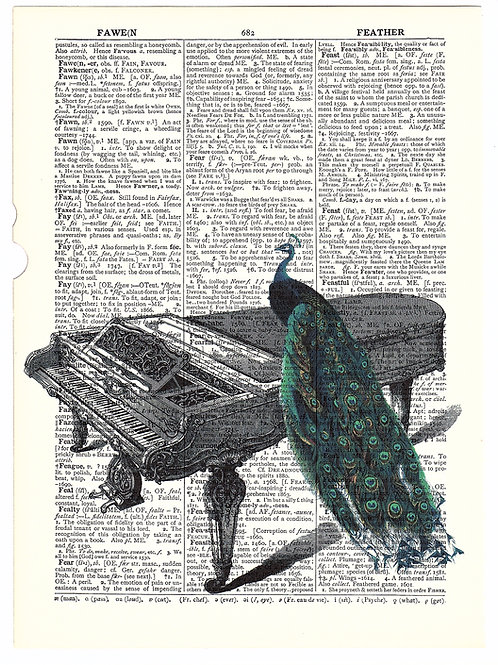 Peacock Piano (Dictionary) - AW00040
