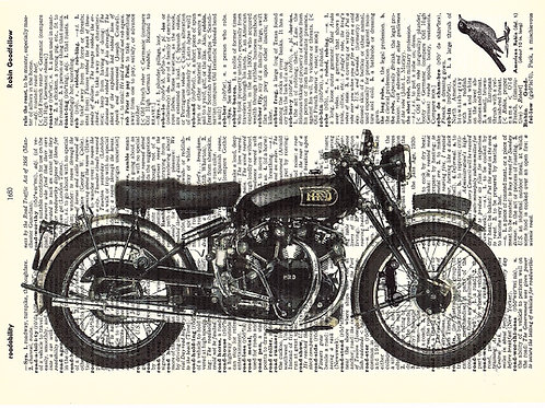 Vintage Motorcycle - AW00349