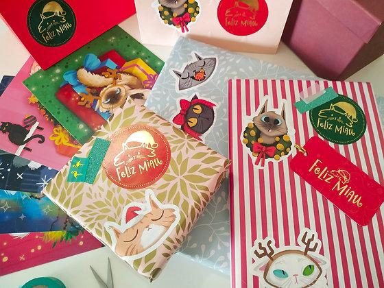 Kit de Natal 'Feliz Miau'