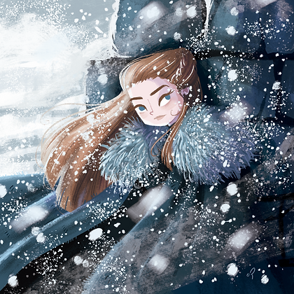 Poster Winter Lady