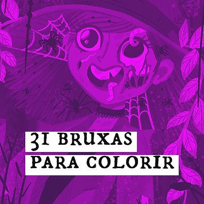31 Bruxas para Colorir