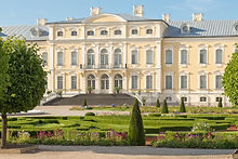 Rundale's palace in Latvia in Baroque st