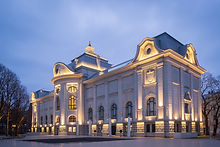 Evening View of the Latvian National Mus