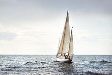 Vintage wooden two mast yacht (yawl) sai