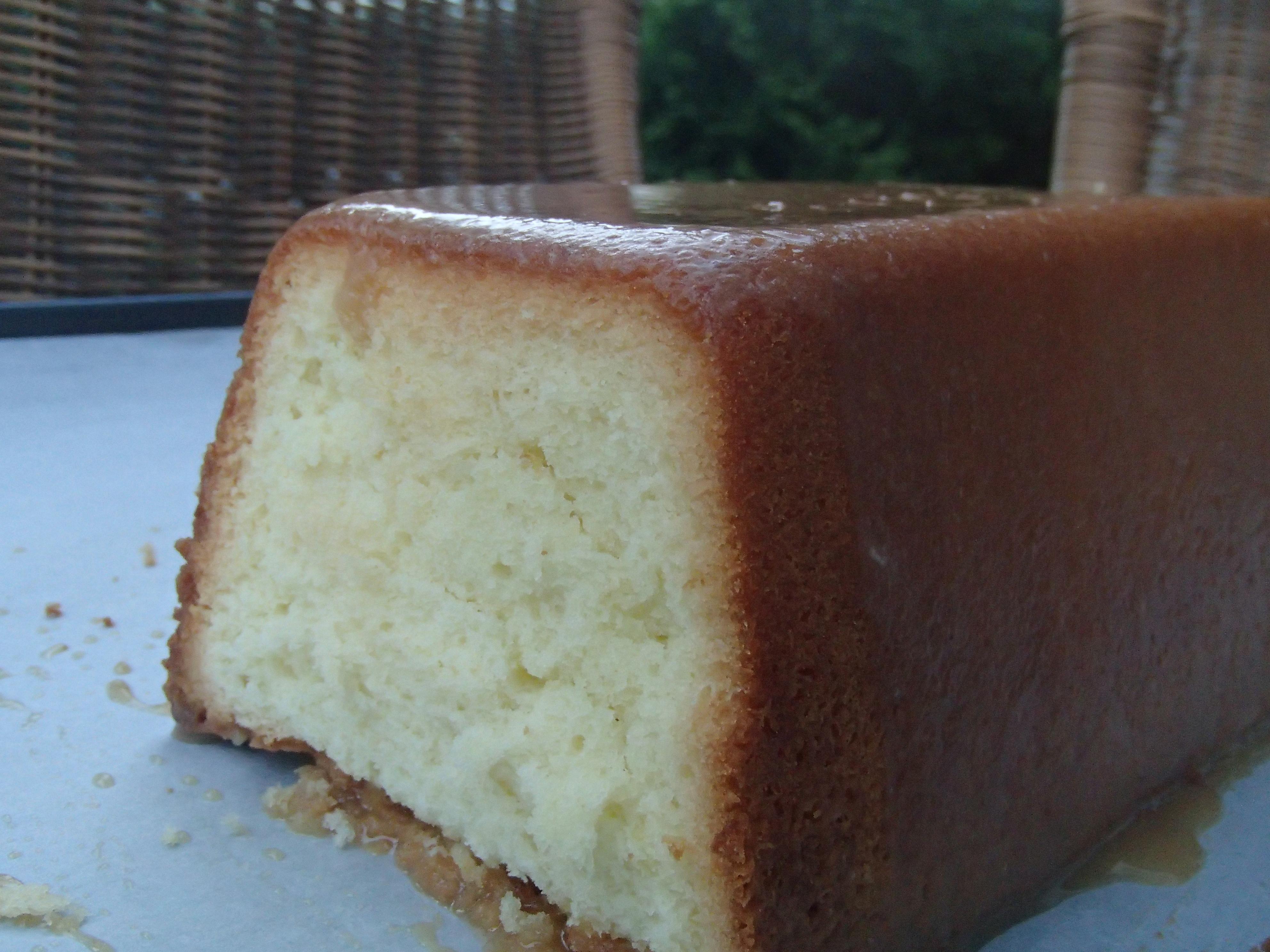 Glazed Vanilla Pound Cake