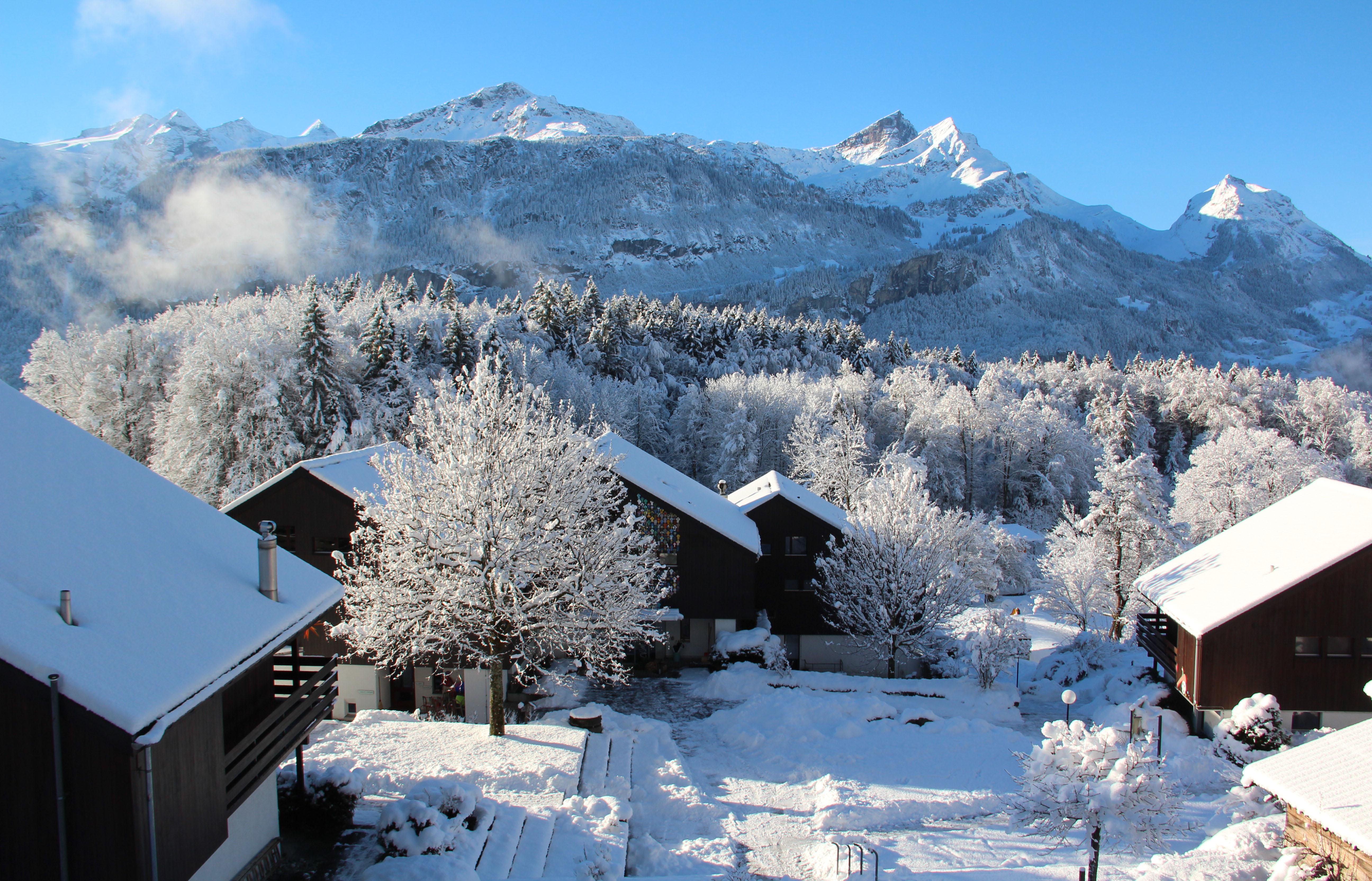 Das CVJM Zentrum im Winter