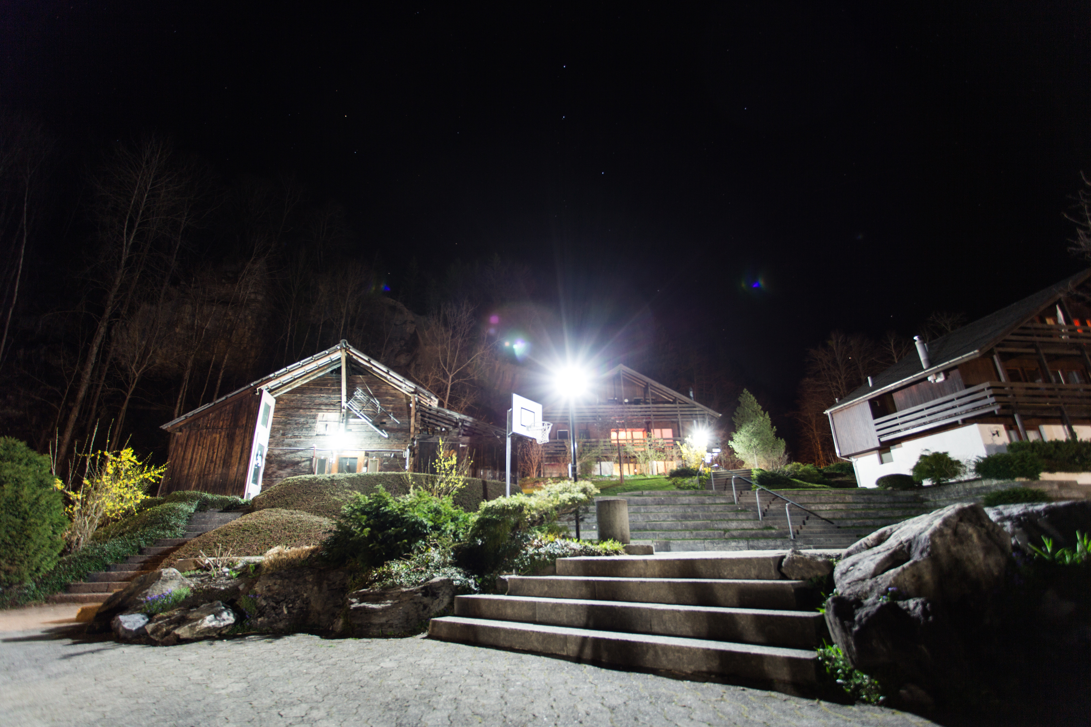 CVJM Zentrum bei Nacht