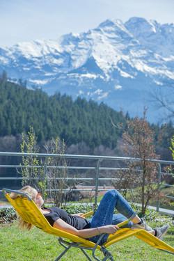 Relaxe auf der Terrasse