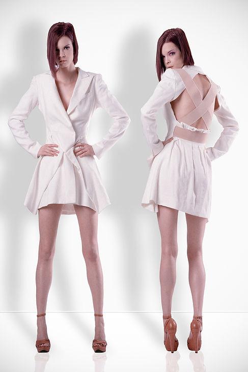 Model White Dress White Background Beauty Film