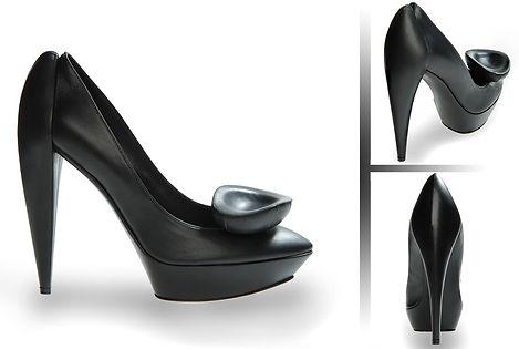 Jil Sander Platform Shoes Hills leather black
