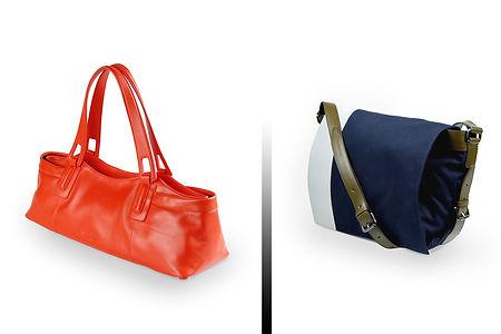 Jil Sander Hand Bag Orange Mens Bag Blue
