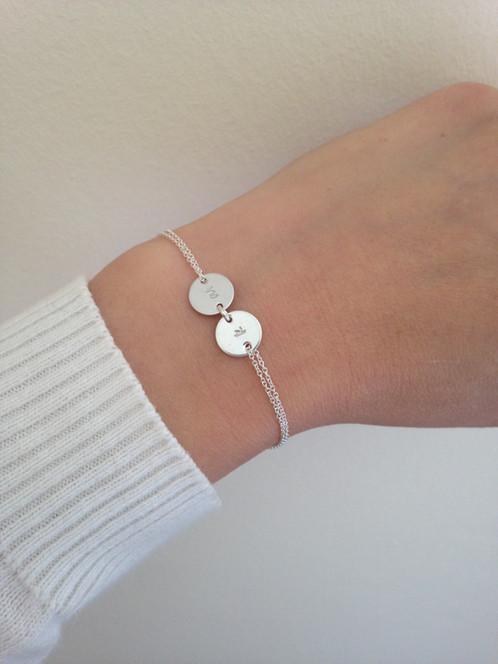Monogram Bracelet Sterling Silver