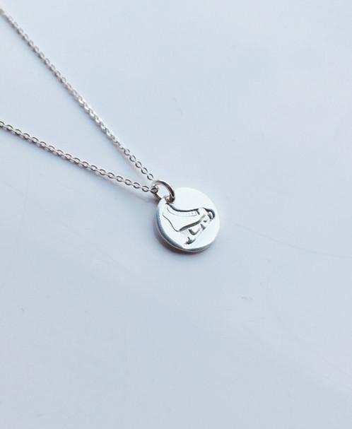Sterling silver ice skate necklace aloadofball Gallery