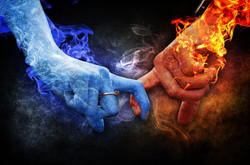 fire and ice hands