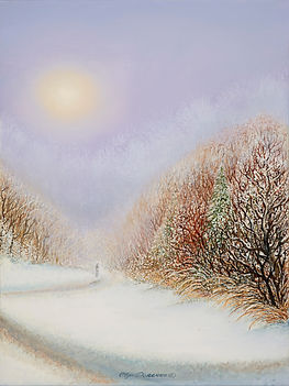 Olga Dorenko Winter Sun  oil on canvas 1