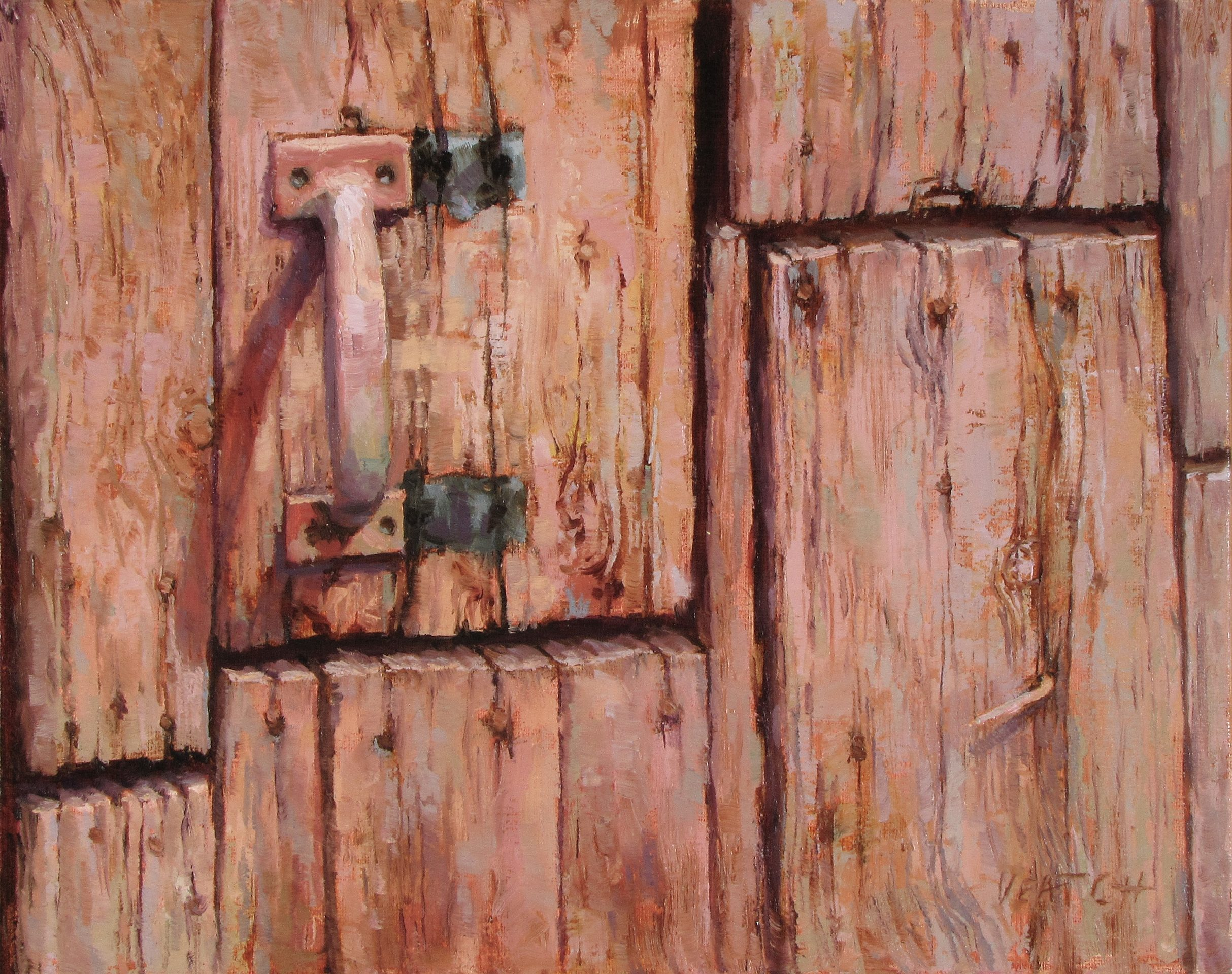 Veatch_Ghost of Barn Doors Past_oil_8x10