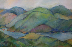 mclaughlin,a  my heart is in the mountains oil 15 x30