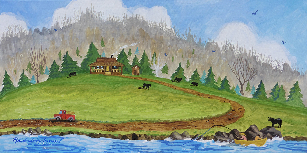 Mountain Home 10_ x 20_ Acrylic on Deep