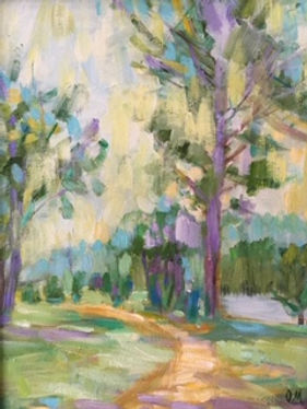 Michelson_Path by Beaver lake_16x12_oil.