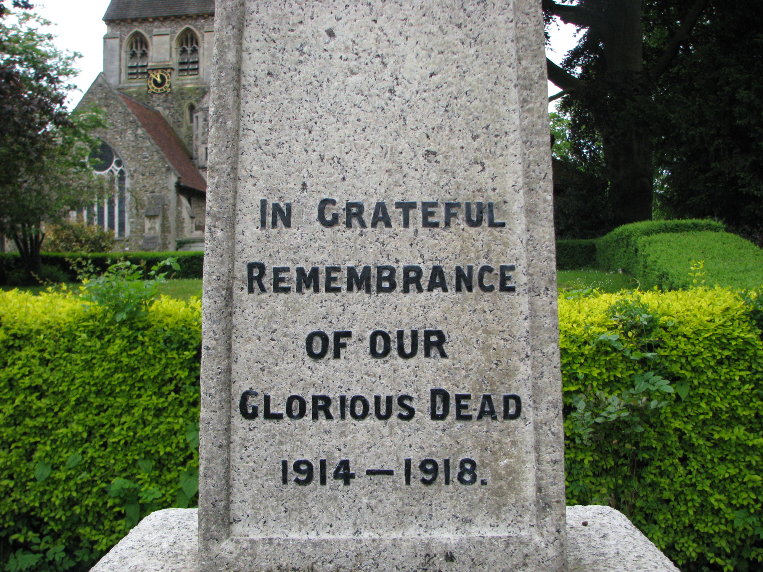 St Mary's Church Churchgate Street Harlow Memorial WWI 004.jpg