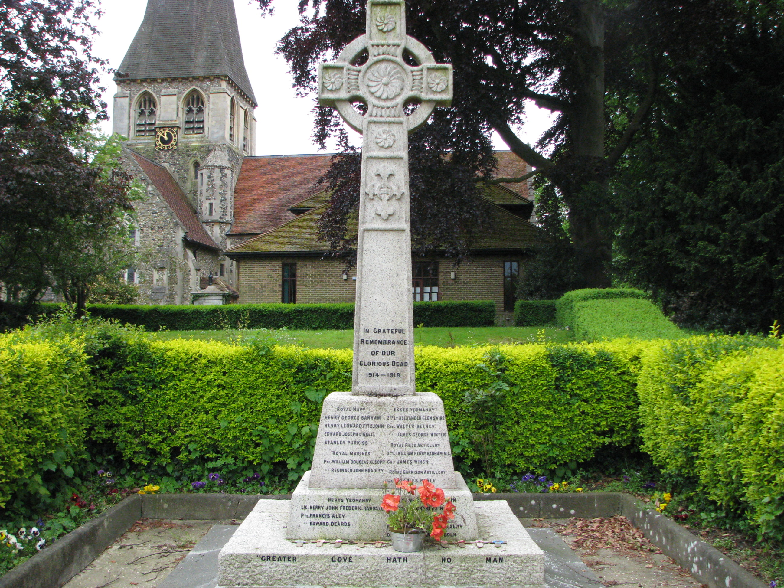 St Mary's Church Churchgate Street Harlow Memorial