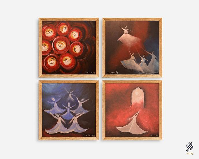 Paintings Set of 4 | صوفيات