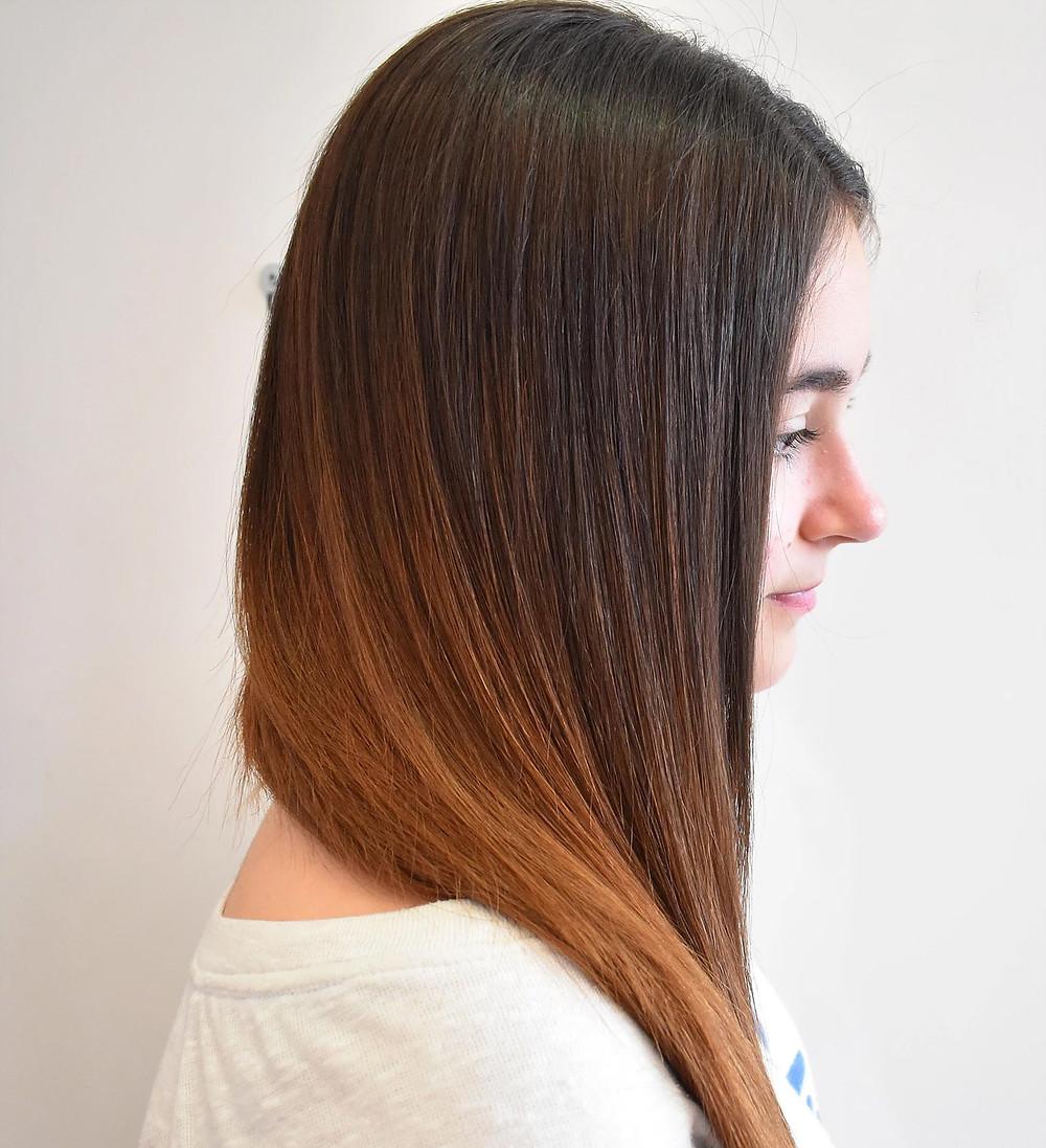 Hair after a keratin treatment