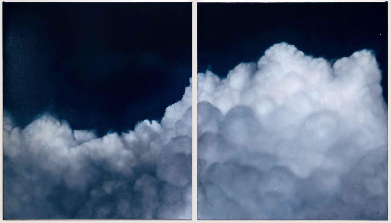 'Cloudscape diptych'