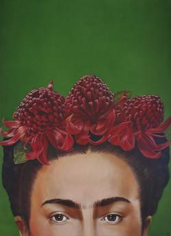 Frida with Waratahs