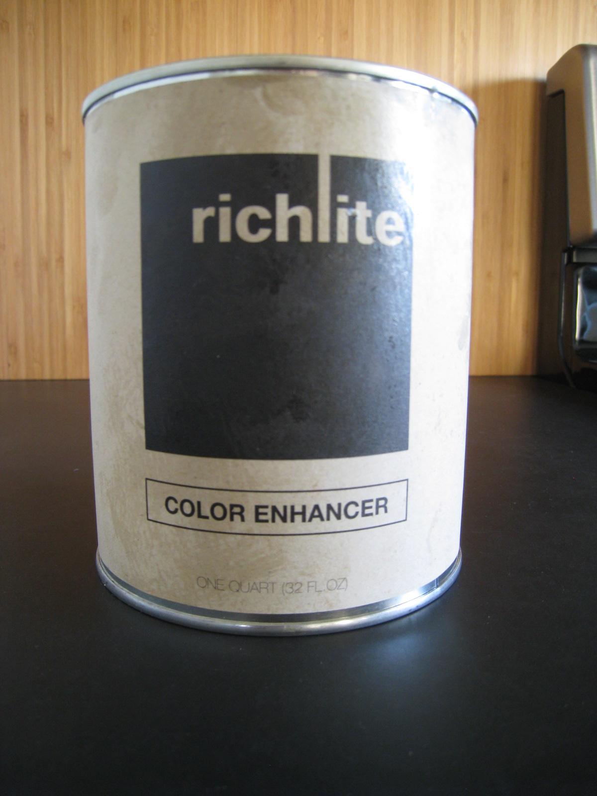 Richlite color enhancer finish