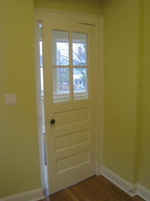 Original exterior door
