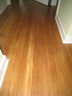 Refinished pine floor