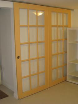 Doors repurposed as room divider
