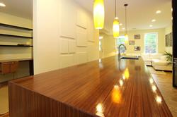 Custom chocolate bamboo countertop