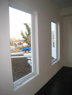 Custom rounded drywall window trim