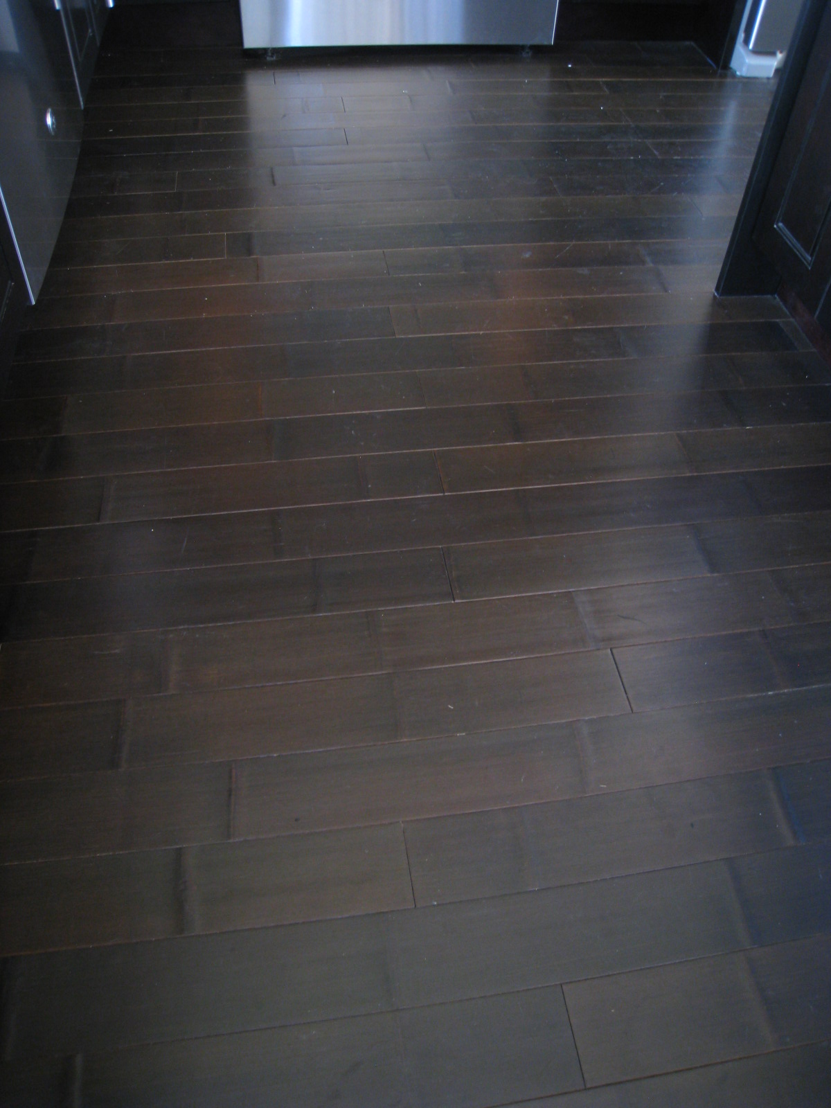 Pressed bamboo floor