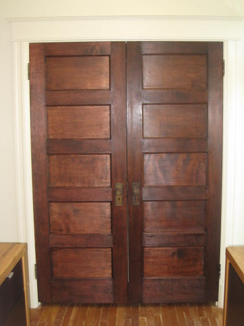 These are Amecrican Chestnut doors