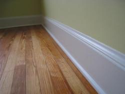 Bedrooms have pine floors