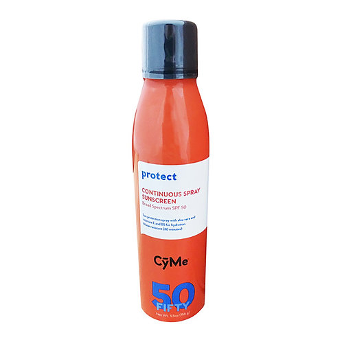 CyMe Protect: Continuous Spray Sunscreen BS SPF 50