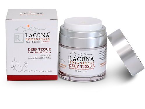 Lacuna DEEP TISSUE - CBD Infused Pain Relief Massage Cream (1000mg CBD)