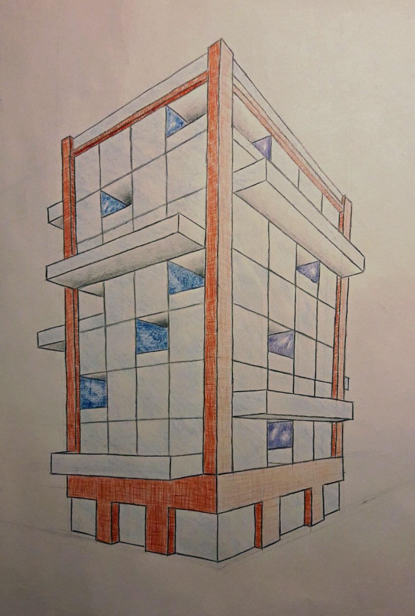 Gebäudeenwurf