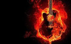 Guitarra em Chamas