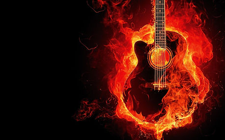 炎でギター