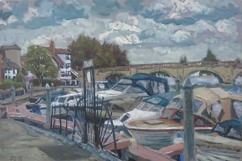 Boats and Henley Bridge