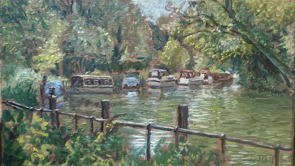 Boats moored at Hurley