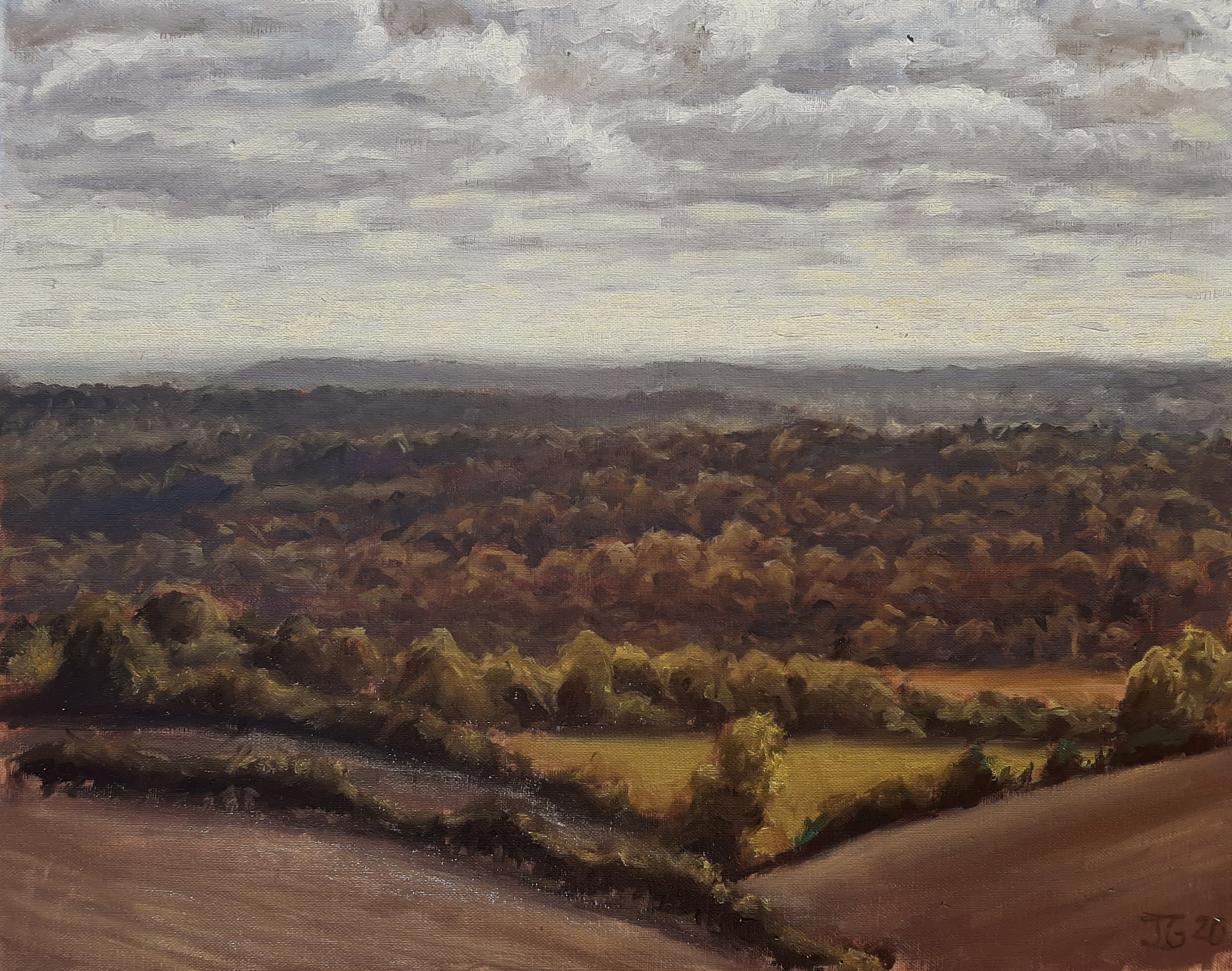 Thames valley towards Bourne End