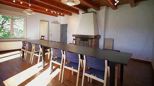 BLUE HOUSE DINING ROOM VIEW TOWARD DOOR