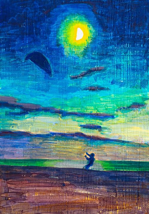Twilight Kite Flyer