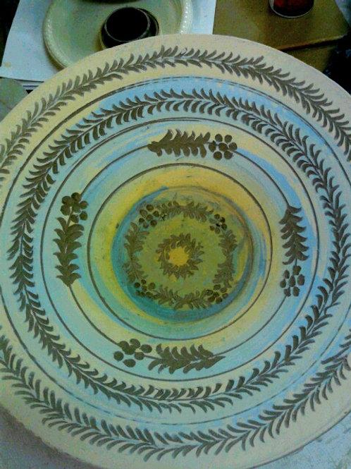 Large bowl decorated Inside (sgraffito)
